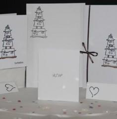 Tiered Cake Wedding Stationery