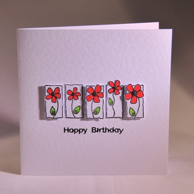 A Pretty Handmade Floral Birthday Card Handmade By Helen