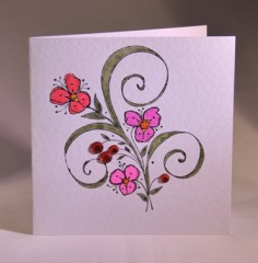 Sparkling Flowers Card