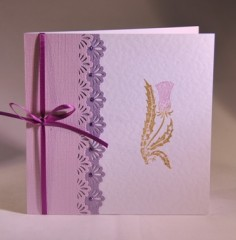 Lace and Thistle Card
