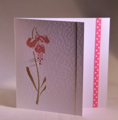 Fuschia Flower Card