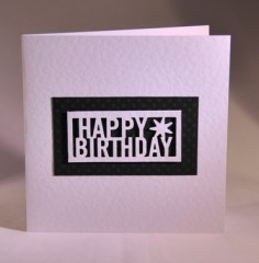 Happy Birthday Card with Star