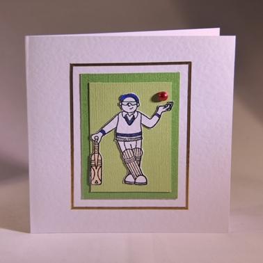A Handmade Card For A Cricketer Handmade By Helen