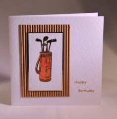 Golf Clubs Birthday Card