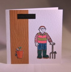 Gardening Fathers Day or Birthday Card
