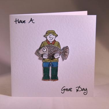 Открытка своими руками для рыбака на день рождения, день рождения для