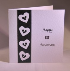 Anniversary cards categories handmade by helen happy first anniversary card thecheapjerseys Images