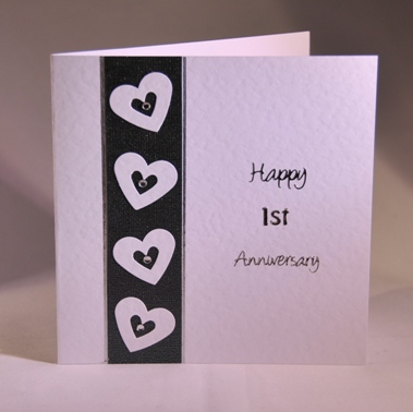 A Handmade First Anniversary Card Handmade By Helen