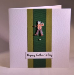 Golf Fathers Day or Birthday Card
