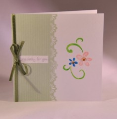 Lace and Flowers Mothers Day Card