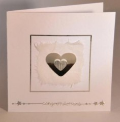Loveheart Engagement card