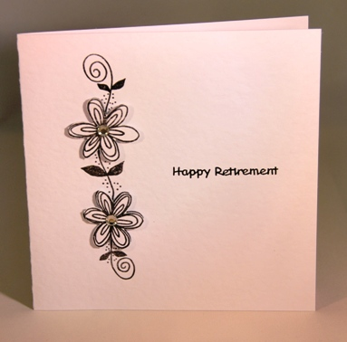 A handmade stylish retirement card | Handmade by Helen Happy Engagement Day Wishes