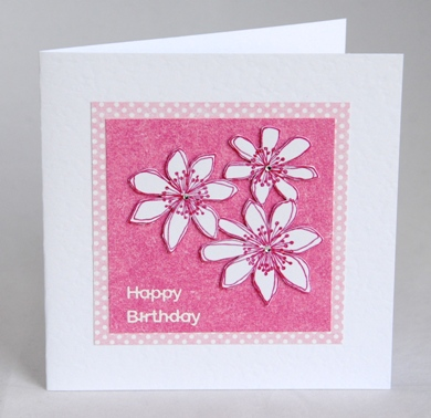 A beautiful handmade floral birthday card handmade by helen fresh flowers birthday card thecheapjerseys Images
