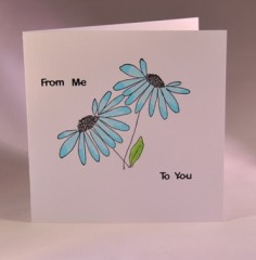 From Me To You Greetings Card