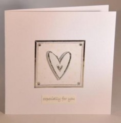 Silver Heart Card