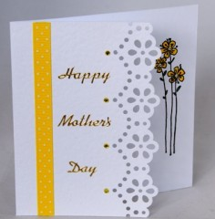 Lace and Flowers Card