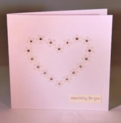 Daisy Loveheart Wedding Card