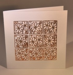 Copper Flowers Card