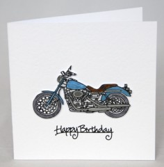 Motorbike Birthday Card