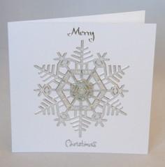 Glitter Snowflake Christmas Card