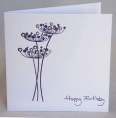 Pearl Seedhead Flower Birthday Card
