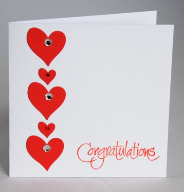 A Stylish Handmade Engagement Card Handmade By Helen