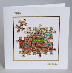 Map Birthday Card