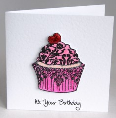 Cupcake Time Card