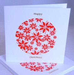 Poinsettia Circle Card Pack