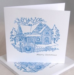 Winter Cottage Card Pack