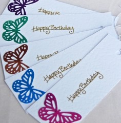 Butterfly Birthday Gift Tags