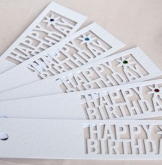 Cut Out Birthday Gift Tags