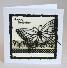 Monochrome Butterfly Card