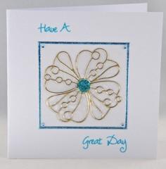 Vellum Daisy Card