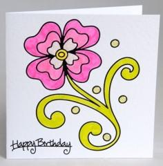 Elegant Flower Card