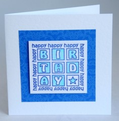 Birthday Squares Card