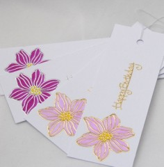 Clematis Birthday Gift Tags