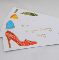 Shoe Birthday Gift Tags