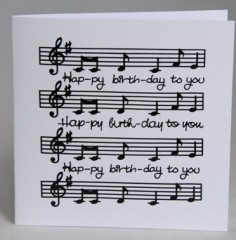 Birthday Music Card