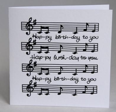 A Handmade Birthday Card For Music Lover