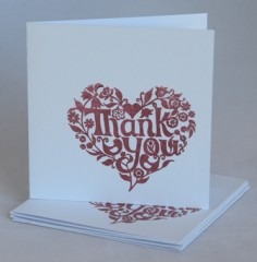 Thank You From The Heart Notecards
