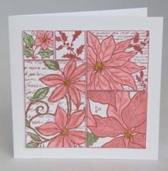 Patchwork Poinsettia Card