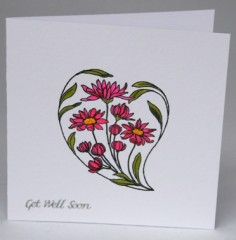 Pink Daisies Get Well Card