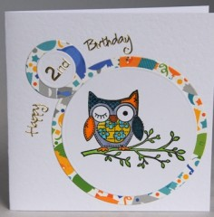 Second Birthday Owl Card