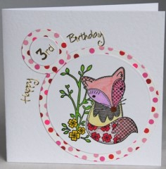 Third Birthday Fox Card