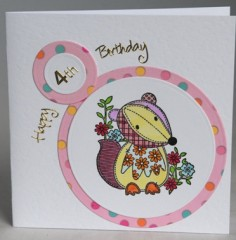 Forth Birthday Badger Card
