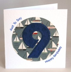 Happy Ninth Birthday Card