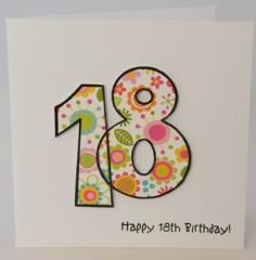 Eighteenth Birthday Girl's Card