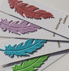 Feather Birthday Gift Tags