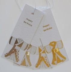 Kimono Birthday Gift Tags